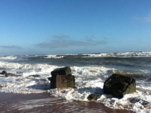 on Aberdeen beach